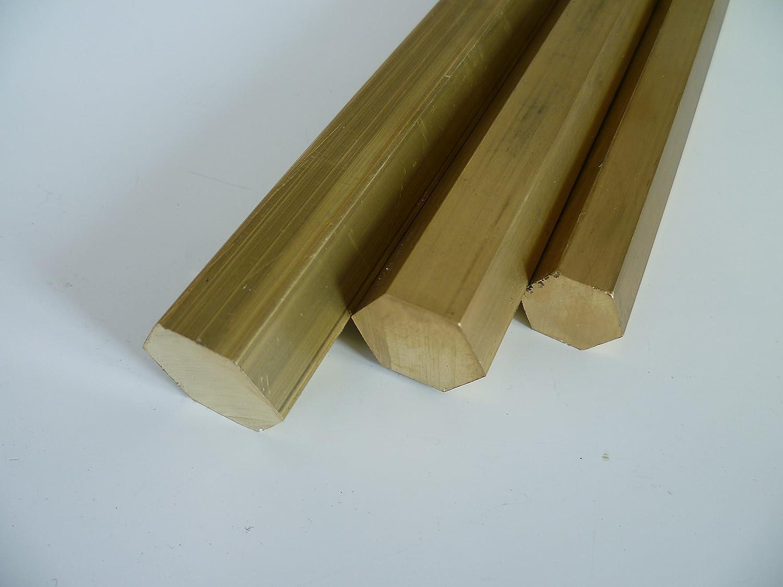B & T Ms 58 Brass Metal Hexagonal Rod Spanner Size 17 mm Length Approx. 25 cm 250 mm + 0/5 mm) B&T