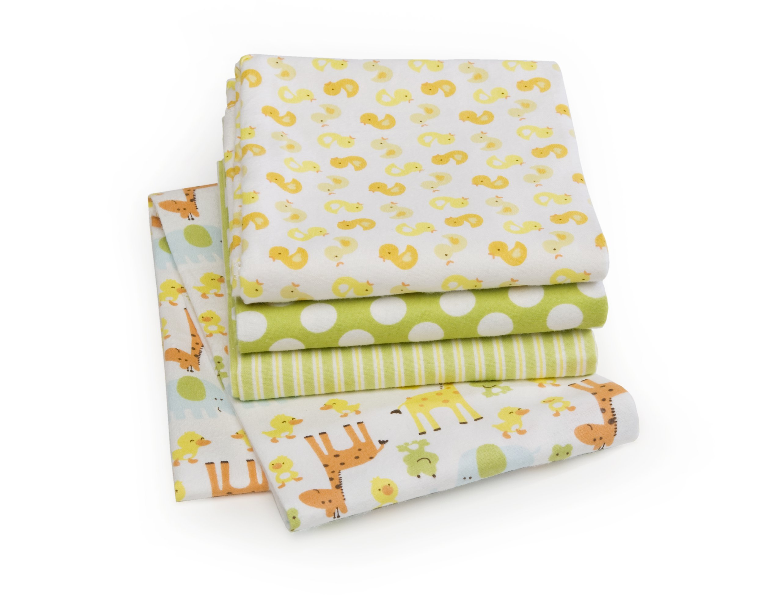 Carter's 4 Pack Wrap Me Up Receiving Blanket, Safari Duck (Discontinued by Manufacturer)
