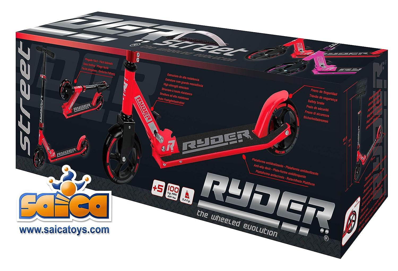 Saica Patinete 2 Ruedas Ryder Street Rojo 145mm, Color Negro ...