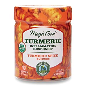 MegaFood, Turmeric Spice Gummies, Soft Chew Supplement to Support Healthy Inflammation, Gluten Free, Vegan, 90 Gummies (45 Servings)