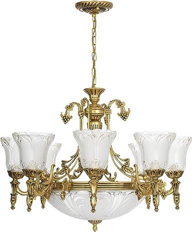 Lampadario classico/ottone lucido/11 luci/E27/Stile liberty Lampada ...