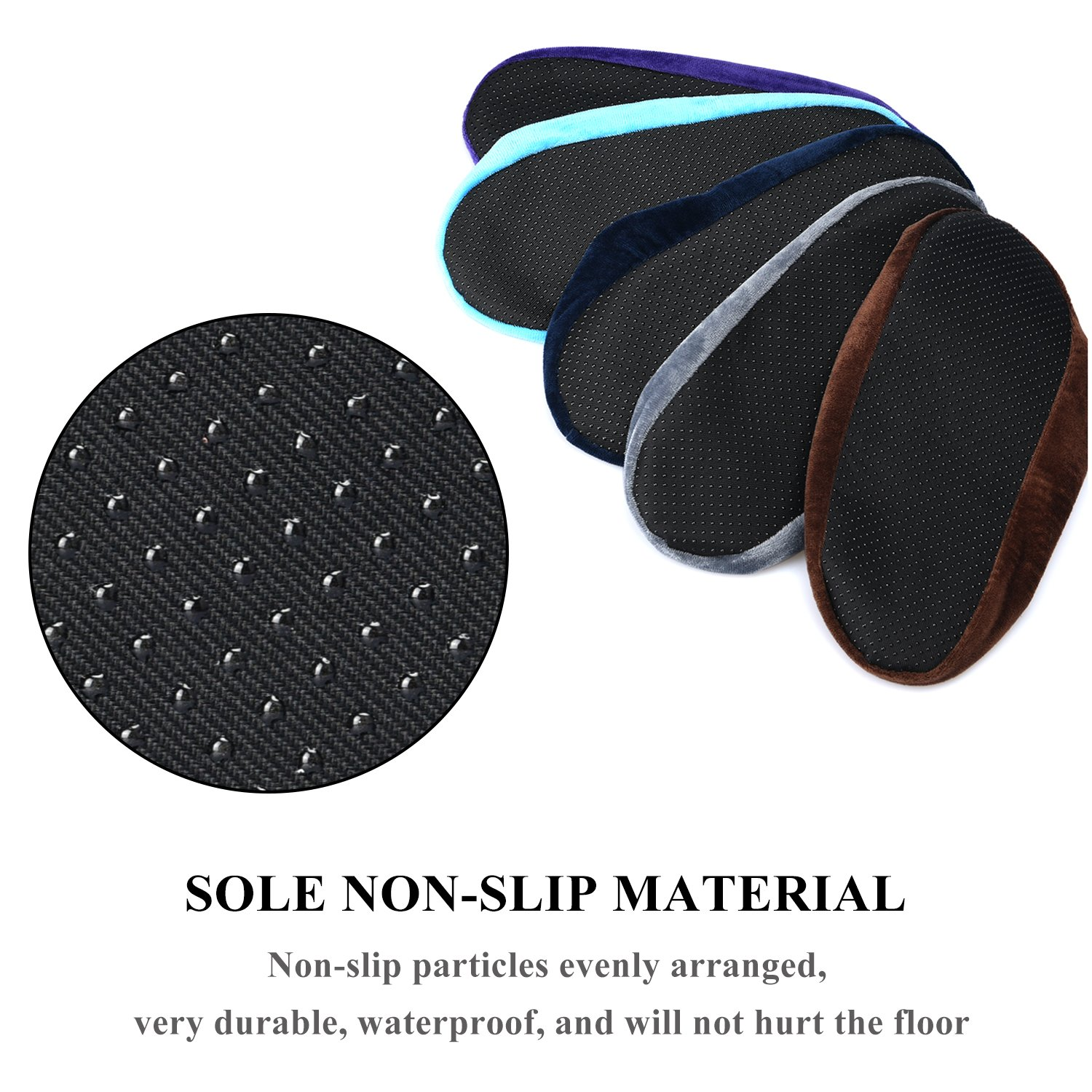 5 Pairs Non Slip Washable Reusable Shoe Covers For Household Thickened Boot Covers by PlasMaller (Image #5)