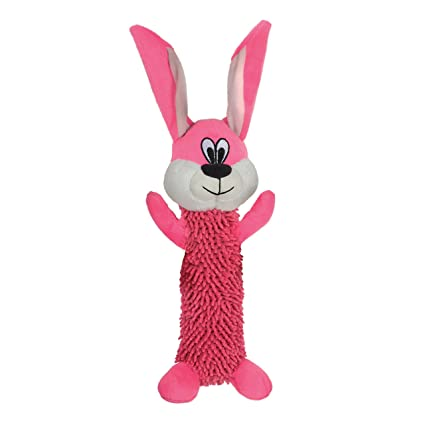c47bfb7a699b5 Smart Pet Love - Tender Tuffs - Shaggy Pink Rabbit - Tough Dog Toy - Play