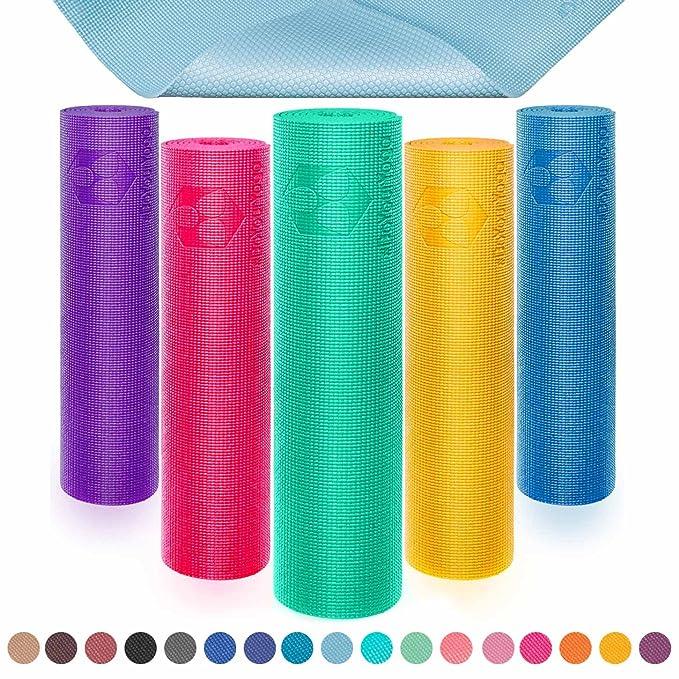 #DoYourYoga PVC Esterilla de Yoga Espuma de Memoria KIRANA Medidas: 183 x 61 x 0,4 cm/Muy resbaladizo Hecho de Eco PVC/el Punto de Partida Ideal para ...