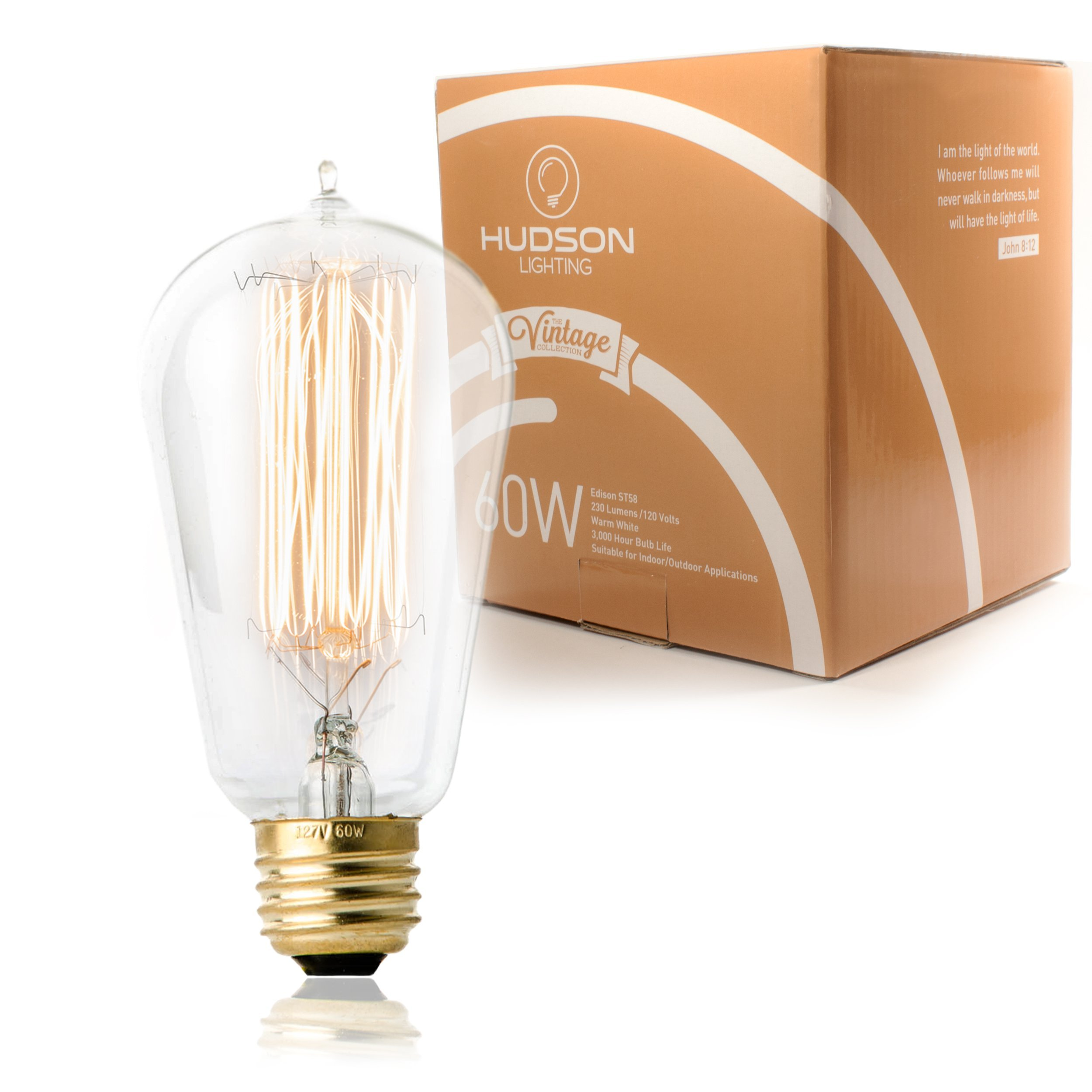 0d30d997e65 Details about 1 Pack - 60 watt Vintage Edison Bulb - Squirrel Cage Filament  - 120 volts -
