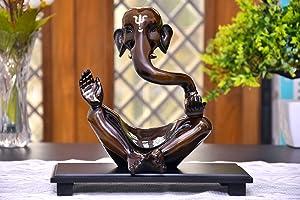Indian Decor & Attire Modern Art Ganesha Idol for Gift & Home Decor | Ganesha Statue for Home | GANPATI Statue | SHOWPIECE for Home Decor House Warming Gift