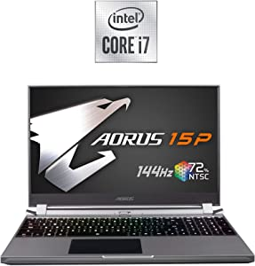 [2020] AORUS 15P (KB) Thin and Light Performance Gaming Laptop, 15.6-inch FHD 144Hz IPS, GeForce RTX 2060, 10th Gen Intel i7-10750H, 16GB DDR4, 512GB NVMe SSD