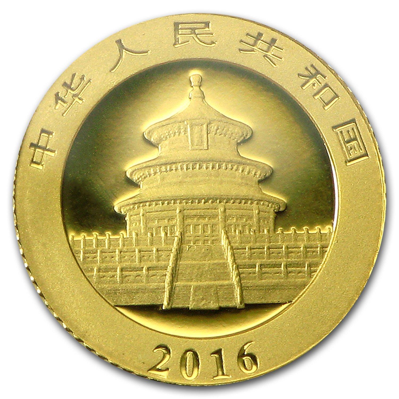 Chinese Gold Panda - Reverse