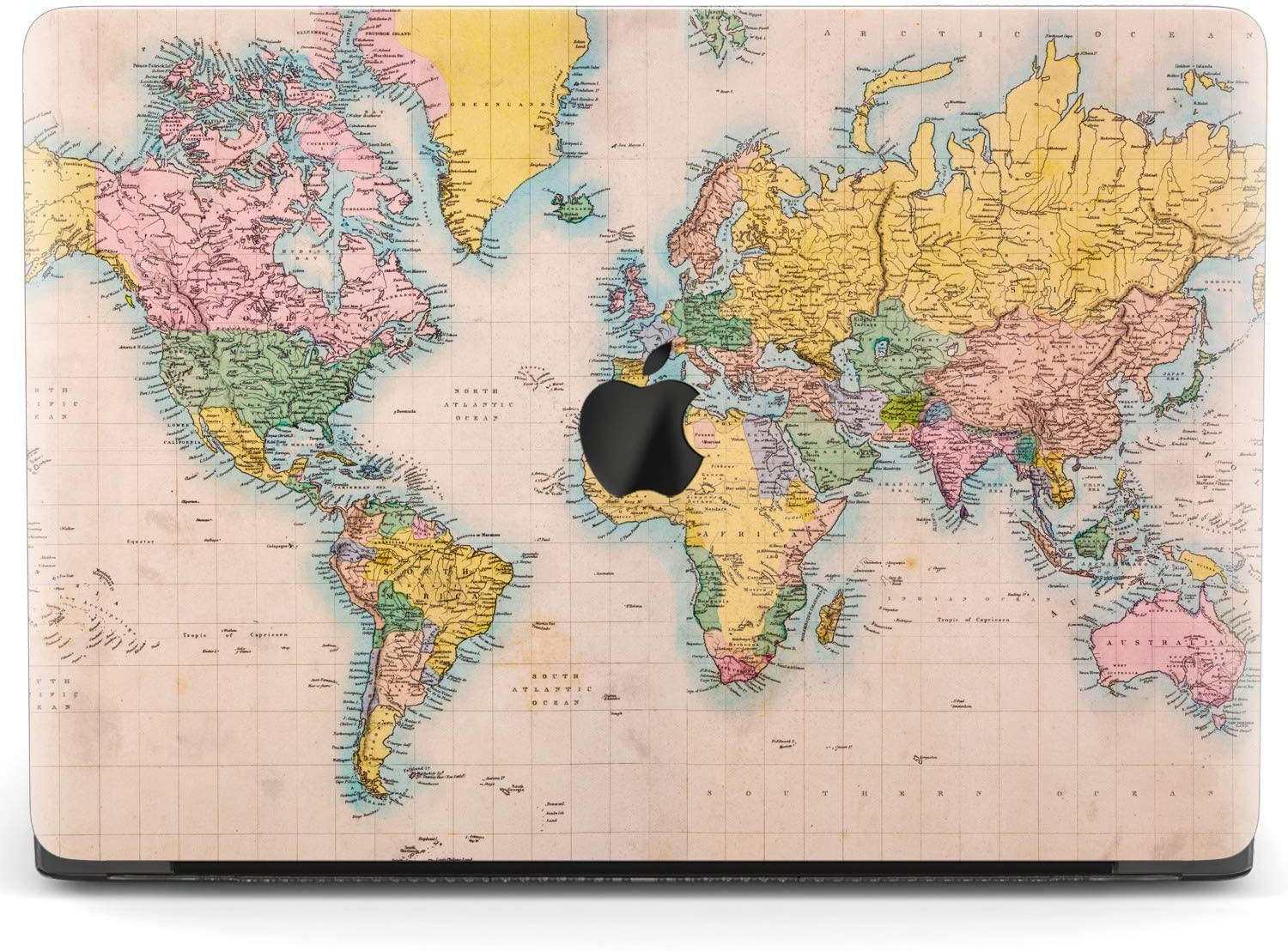 Mertak Hard Case for Apple MacBook Pro 16 Air 13 inch Mac 15 Retina 12 11 2020 2019 2018 2017 Atlas Geography Continents Laptop Plastic Print Protective Design Touch Bar Clear Vintage Old World Map