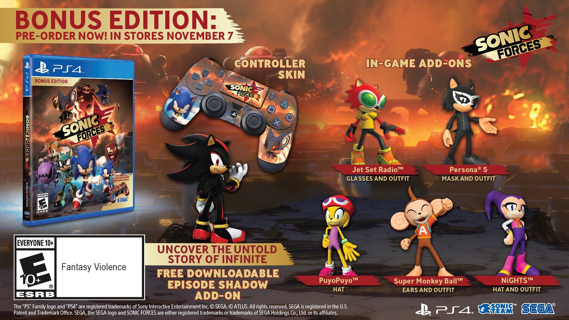 New Sonic Game For Ps4 : Sonic forces bonus edition playstation 4 brand new ps4 games sony