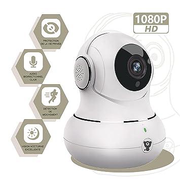 littlelf cámara domo vigilancia 1080P Full HD IP Cam motorizada PTZ – Audio bidireccional Detección de