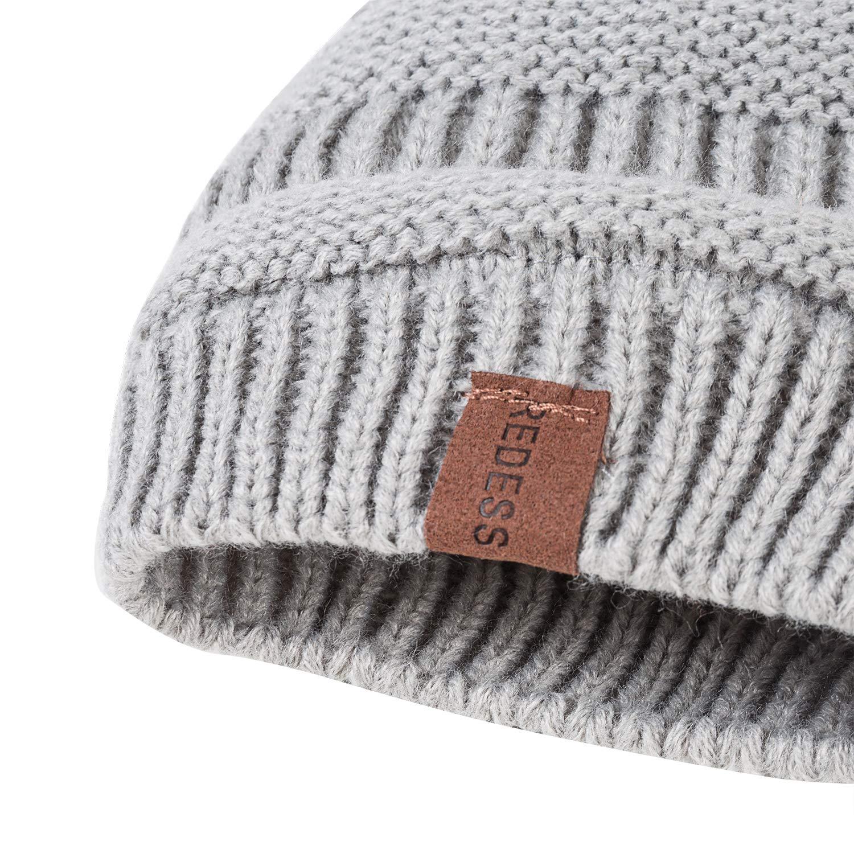 Infant Toddler Children Beanie Knit Cap Girls Boys /… REDESS Baby Kids Winter Warm Fleece Lined Hats