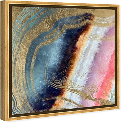 The Oliver Gal Artist Co. Abstract Framed Wall Art Canvas Prints 'Marianna' Crystals Home D cor