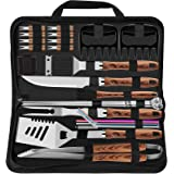 ROMANTICIST 27pcs Heavy Duty BBQ Tools Gift Set for Men Dad, Extra Thick Stainless Steel Grill Utensils with Meat Claws, Gril