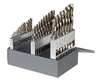 Cle-Line C21121 - Juego de brocas de cobalto de 135 grados en caja de metal, 29 piezas: Amazon.es: Industria, empresas y ciencia