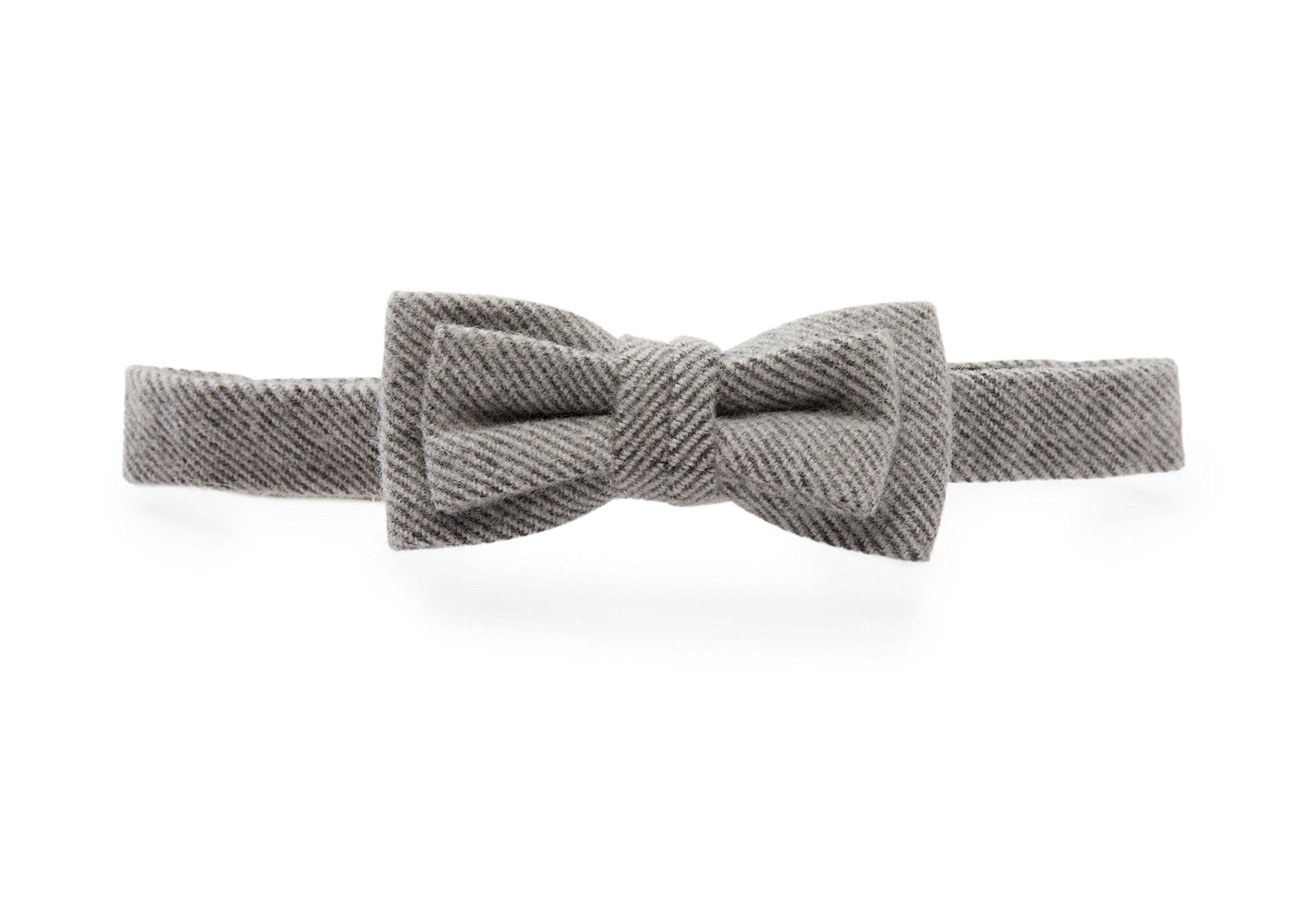 Hope & Henry Boys' Grey Herringbone Bowtie Made with Organic Cotton