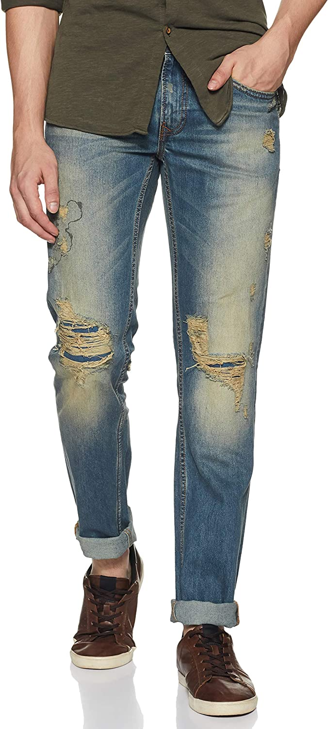 Pepe Jeans Men's Skinny Fit Stretchable Jeans