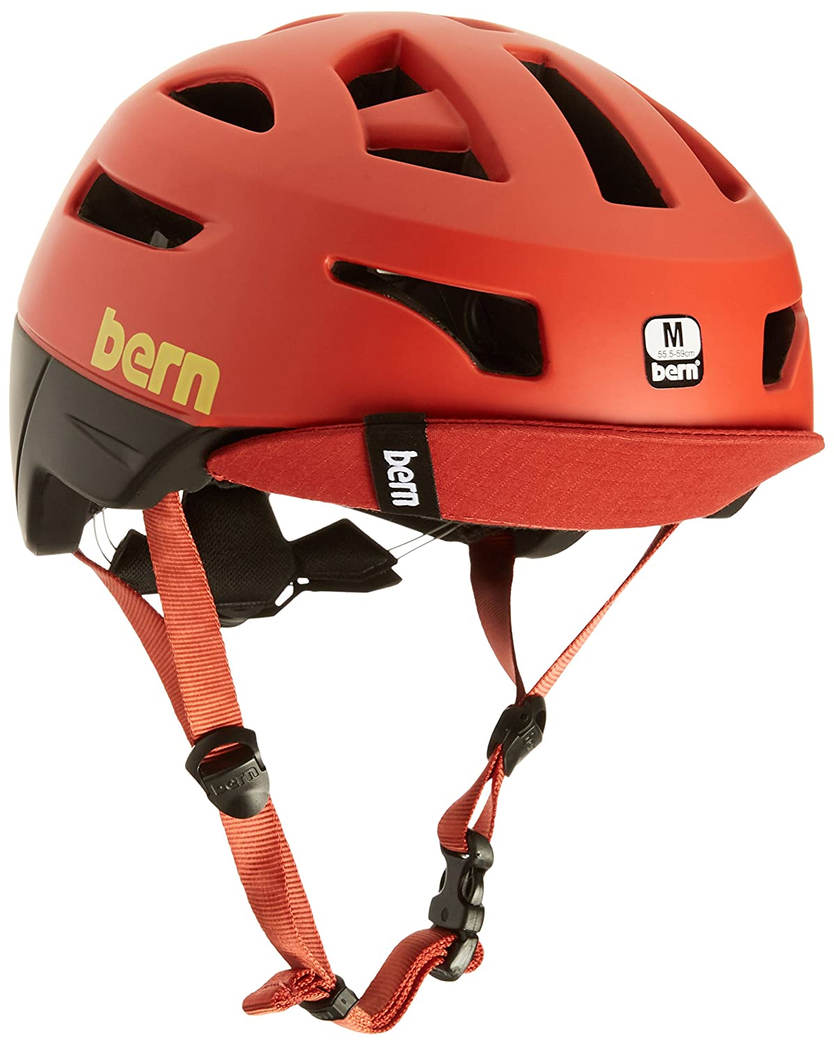 BERN Bike Union Helmet – Men s Matte Red Large
