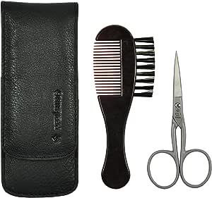 Pfeilring – Tijeras para recortar la barba barba Cepillo 2 Piezas ...