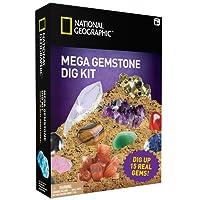 National Geographic Mega Gemstone Mine – Déterrez jusqu'à 15Pierres précieuses véritables avec la