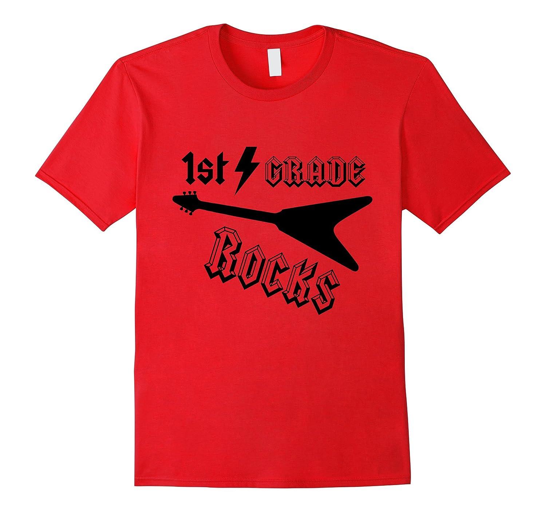 Rock n Roll 1st Grade Rocks Shirt Back to School Gift-FL