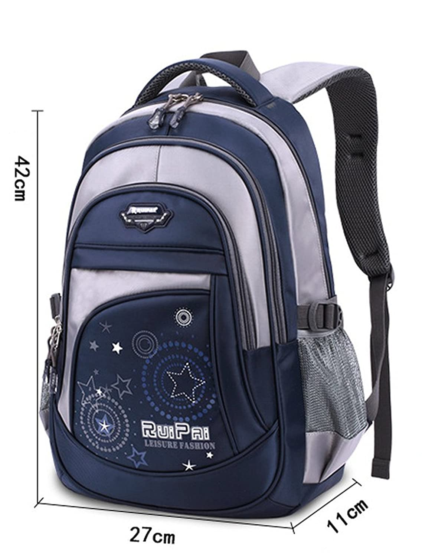 Waterproof kids Backpacks Satchel for Middle or Primary School Boys and Girls Black