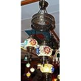 Lámpara Turca para techo tres bolas grandes de 18 cm de ...