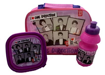 5ad5cdb76659 One Direction Lunch Bag With Box + Bottle Set In Pink