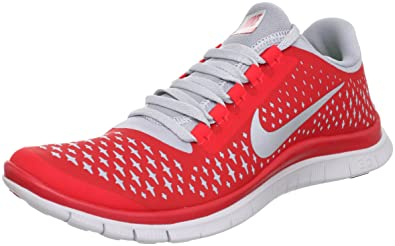 Image Unavailable. Image not available for. Color  Nike Free 3.0 V4 Wolf  Grey Red Mens Barefoot Running Shoes ... 75e2c7dd8