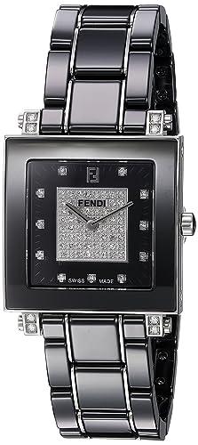 Fendi Women s Ceramic Swiss Quartz Dress Watch, Color Black Model F625110DPDC