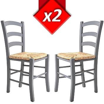 VS Venta-stock Pack 2 sillas de salón Berna Color Gris Claro ...