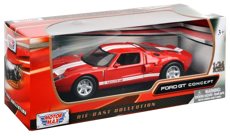 Amazon Com Motormax Bl Ford Gt Blue  Cast Car Model Motormax Toys Games