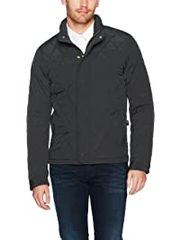 Scotch & Soda Mens Classic Lightweight Padded Jacket with Diamond Quilting Jacket
