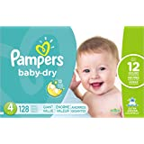 Pampers Baby Dry Diapers Size 4, 128 Count