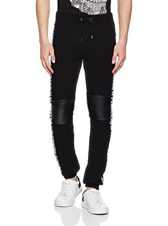 1df5eaa1b22 Philipp Plein - Pantalon - Homme Noir Schwarz - Noir - Small  Amazon ...