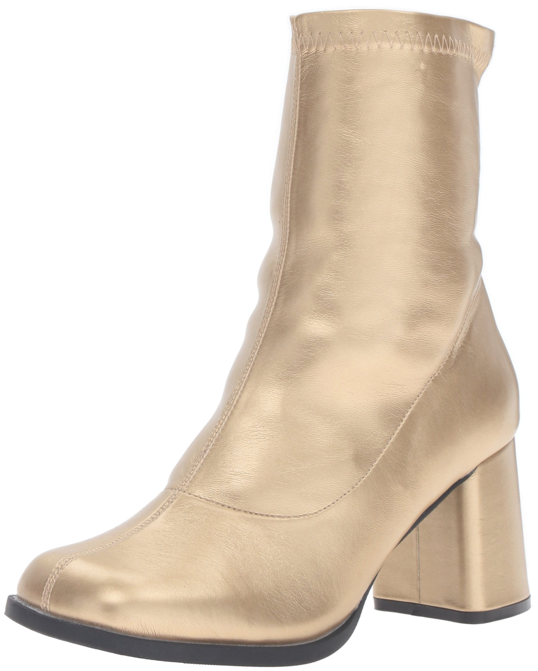 Funtasma Women's Gogo150/Gpu Boot, Gold Stripe Polyurethane, 11 M US