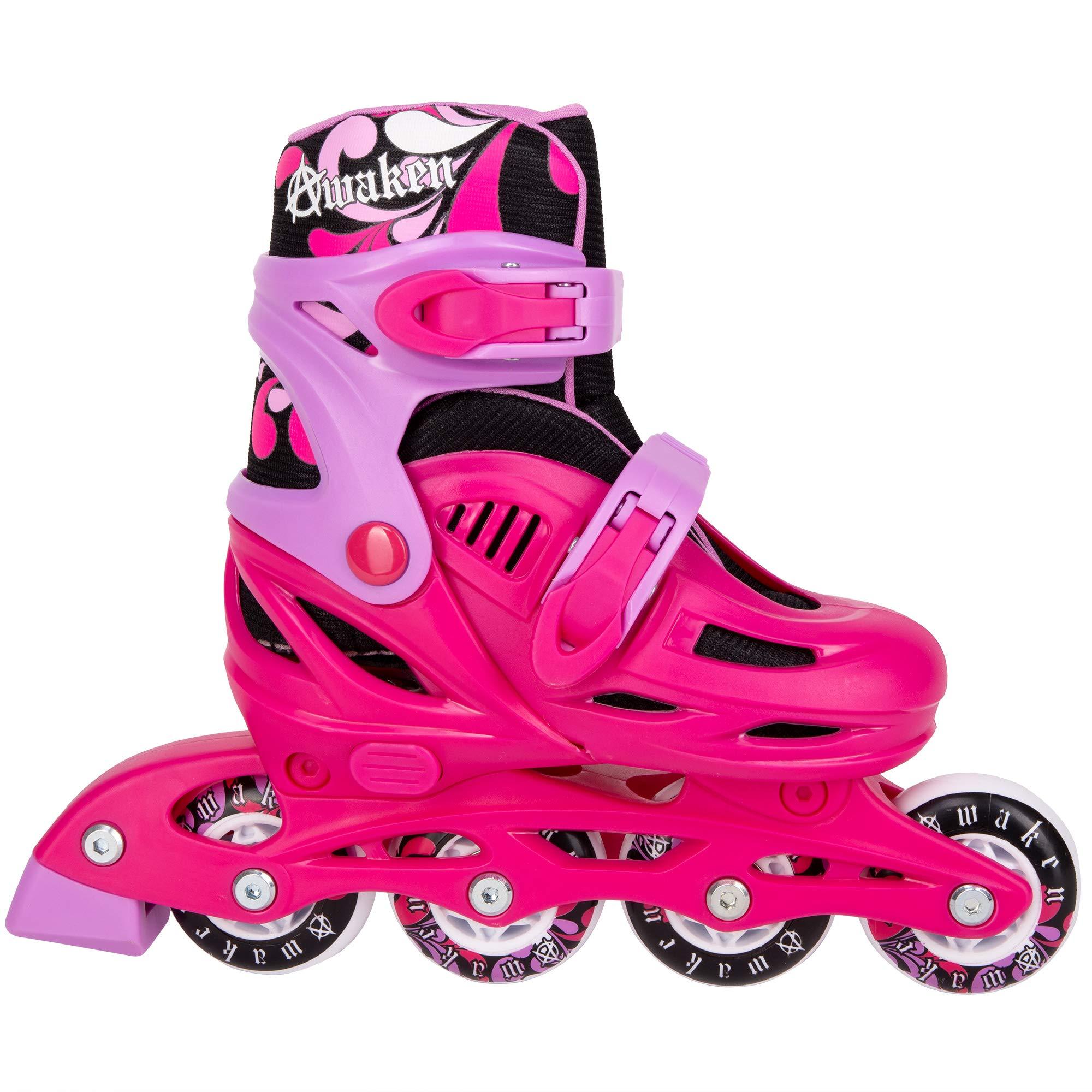 Cal 7 Adjustable Size Inline Skates | Beginner Roller Hockey Blades for Kids, Boys, Girls