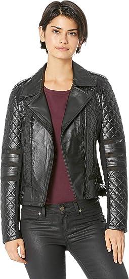 8039b873fac9 Blanc Noir Womens Renegade Mesh Moto Jacket at Amazon Women s Coats Shop