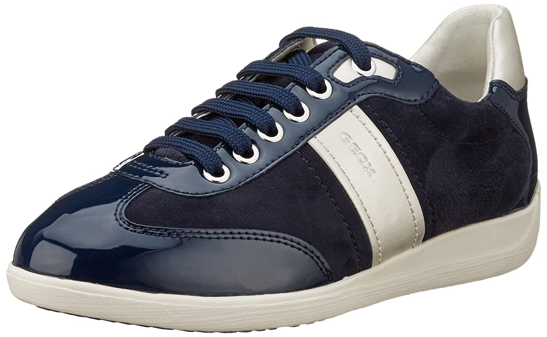 Geox D Myria a, Zapatillas para Mujer 41 EU|Azul (Dk Navy C4021)