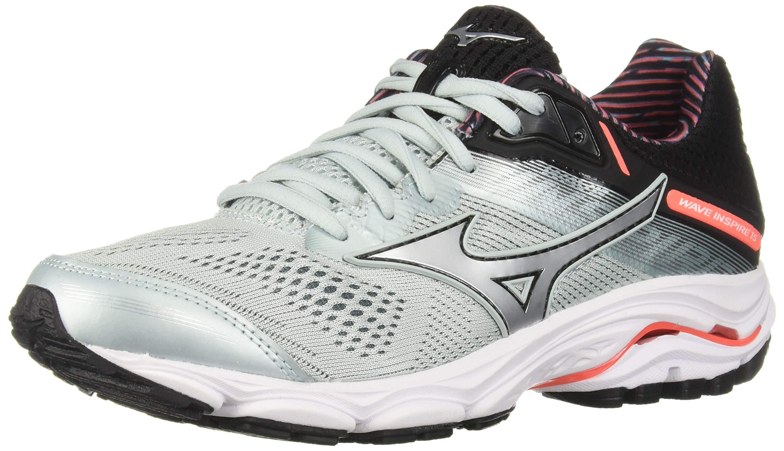 Mizuno Women's Wave Inspire 15 Running Shoe, Sky Gray-Silver 6 W US