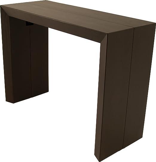 Consola mesa extensible 4 de extensión, color wengé: Amazon.es: Hogar