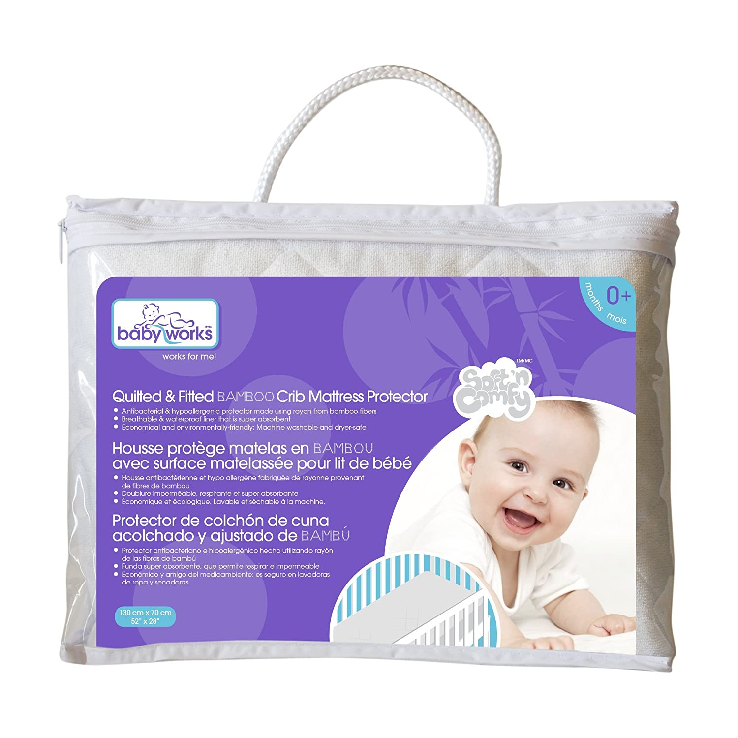 Amazon.: Quilted and Fitted Bamboo Crib Mattress Protector