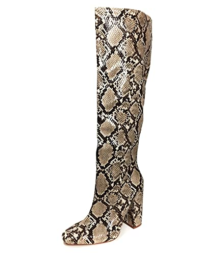 64bf1ca4878 Amazon.com  Zara Women Snakeskin Print Heeled Boots 7006 301  Shoes