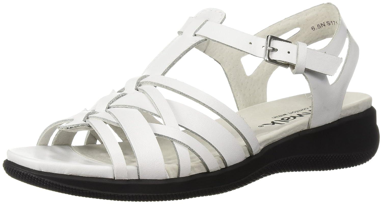 SoftWalk Womens taft Open Toe Casual Leather Flat Sandals B073BZ8BFC ホワイト 7.5 N US
