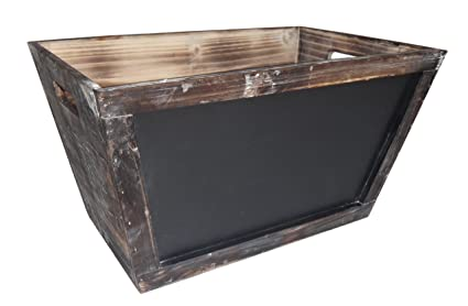 Cheungu0027s Wooden Storage Bin With Chalkboard Front| Large