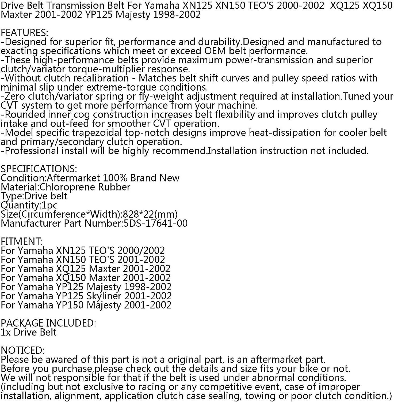Cinghia di trasmissione per Yamaha Majesty YP Maxter XQ TEOS XN 125 150 98-02 5DS-17641-00