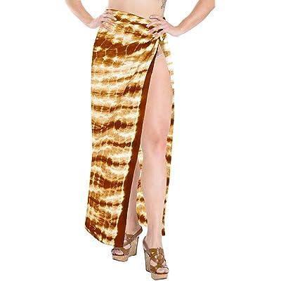 *La Leela* maillot de bain main 100% de colorant jupe robe coton camouflage cravate sarong 88x42 pouces