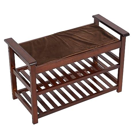 Amazon.com: Lucky Tree - Banco tapizado con asiento ...