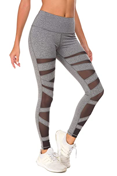QUEENIEKE Pantalones de Malla Medias de Yoga para Mujeres de ...