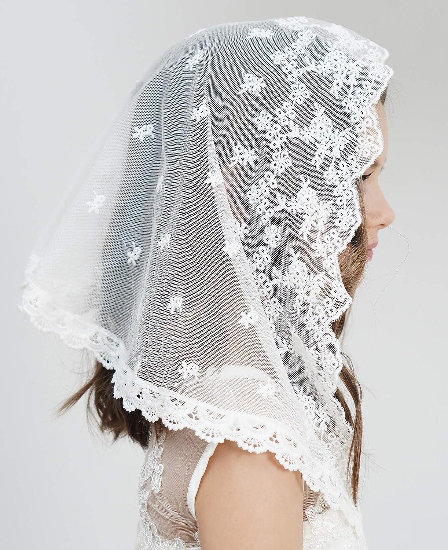 Flowergirl Veils First Communion Veils French Lace Head Covering Mantilla Church Veil F2